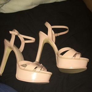 NWOT Aldo Strappy Sandals Nude Peach Size 10.5